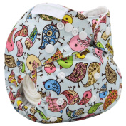 M2MO Baby Nappies Nappy Character Pattern Nappy Cloth Cover Aspic OS