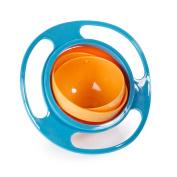 BAOBAO Non Spill Feeding Toddler Kid Gyro Bowl 360 Rotating Baby Avoid Food Spilling