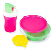 Combo BooginHead Super Grip Sticky Bowl & Lid with SippiSnack Cup & Snack Holder Set