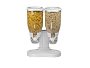 Above Edge Dual Cereal Dry Food Dispenser Container
