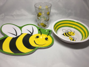 Dinnerware Set for Kids - 3 Piece Set - Plate, Bowl, and Cup