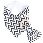 Doober Kids Baby Unisex Feeding Saliva Towel Dribble Triangle Bandana Bibs Teether Ring