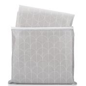 Splat Mat by Honeyed- Scallop - Grey and White Modern Design Large Non-toxic High Chair Floor Splash Mat