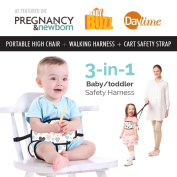 Travel High Chair + Portable High Chair + Toddler Safety Harness + Shopping Cart Safety Strap. Winner of 3 AWARDS! Mom's Choice, Preferred Choice & Family Choice! Great for Travel/Home - Hearts