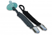 Paracord Paci Clips - Tactical Pacifier Clip Leash Holder Perfect for Baby Boys and Girls -Fits all Style of Pacifier -Perfect Baby Shower Gift