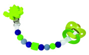 Petite Creations Silicone Pacifier Holder, Green/Grey/Navy Blue/White