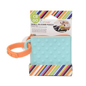 CB Go Small Silicone Pouch. On-the-Go for stroller and nappy bag organiser for Pacifiers, Keys, Credit Cards & More, Turquoise