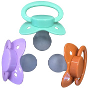 ENVY BODY SHOP Adult Sized Pacifier Dummy for ADULT BABY ABDL BigShield Three Paci Pack
