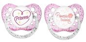 Ulubulu Classic Expression Pacifier - 6-18 Months - 2 Pack - My Little Princess