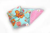 Comfy Cradle/Burp Cloth Set, Chloe / Hot Pink