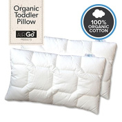 Dream Big Little One - 100% Organic Toddler Pillow - Designed by a Chiropractor and Mom of 4! Spinal health begins as a baby - Your child deserves to be spoiled with quality! So Soft, So Comfortable.