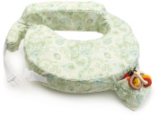 Lightweight, Easy to Store, Wrap Around Design Travel Nursing Pillow in Green Paisley
