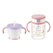 Richell laclais suddenly straw mag set Pink
