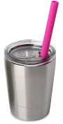 Housavvy Baby Drink Cup with Lid and Straw Double Wall Stainless Steel Mug
