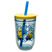 Zak Designs Minions Double Wall Straw Tumbler 440ml