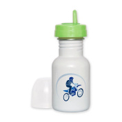 Sippy Cup Orange Lid Motocross MX Flying Dirt Bike in Blue