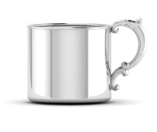 Krysaliis Sterling Silver 150ml Classic Cup with Victorian Handle