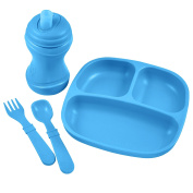 Re-Play Divided Plate, Soft Spout, Utensil Set