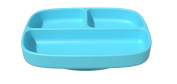 Baby Dish Dishwasher Safe Silicone Divided Plate Baby Bowl Strong Table Suction Fits Most Highchair Trays
