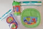 Angel of Mine Green Monster Children's Plastic Dining Set