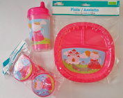 Pink Princess Plastic Dining Set
