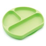 Bumkins Silicone Grip Dish, Green
