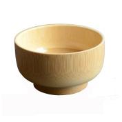 Lucoo Kitchen Wash Natual Wood Round Salad Bowl Kitchen Wooden Handmade Children Fruit Rice Bowl