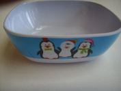 Ice Blue Penguin Melamine Childrens 15cm Plastic Bowl Dinnerware