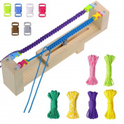Dreamtop Jig Bracelet Wristband Maker with 6 Parachute Cords and 6 Buckles Paracord Braiding DIY Craft Tool Kit