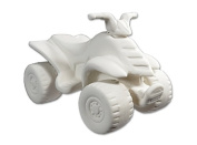 Four Wheeler (ATV) - Paint Your Own Ceramic - Unfinished Low-Fire Ceramic Bisque - Paint-a-Potamus