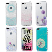 iPhone 7 Plus Case (14cm ) - 6 Pcs Shock-absorption Soft TPU Rubber Skin Bumper Case Transparent Crystal Clear Cute Colourful Print Patterns Ultra Thin Slim Protective Cover by Badalink - Group 4