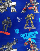 2007 Transformers- Optimus Prime & Bumblebee on Navy Blue 100% Cotton Fabric - Officially Licenced (Great for Quilting, Sewing) 1 Yard X 110cm