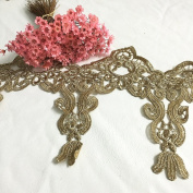 1 Yard Gold Thread Embroidery Golden Lace DIY Lace Fabric Handmade Clothing Using Curtain Decoration 13 CM Width