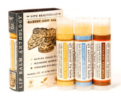 Bakery Shop Lip Balm Set - All Natural - Includes 3 Dessert Flavours