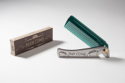 Man Comb 'Special Edition' DECO (Dark Green/Jade) The Ultimate Tool for your Hair, Beard and Beer.