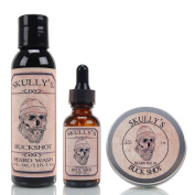 Skully's Buck Shot 120ml Beard Wash, 60ml Beard Balm & 30ml Beard oil, Beard kit