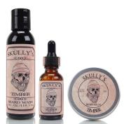 Skully's Timber 120ml Beard Wash, 60ml Beard Balm & 30ml Beard oil, Beard kit