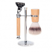 Silvertip Fibre Synthetic Badger Shaving Set in Natural Oak