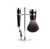 Synthetic Black Fibre Shaving Set