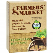 Farmer's Market Natural Bar Soap Lemongrass Basil - 160ml -