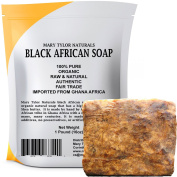 Organic African Black Soap 0.5kg Raw Black Soap for Acne, Eczema, Psoriasis, Scar Removal Face And Body Wash Authentic Handmade Beauty Bar Imported From Ghana Africa By Mary Tylor Naturals