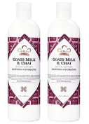 Nubian Heritage Goat's Milk & Chai Body Lotion (Pack of 2) with Shea Butter, Cocoa Seed Butter, Olive Oil, Aloe Vera Juice, Sweet Almond Oil, Jojoba Seed Oil and Goat Milk Extract, 380ml