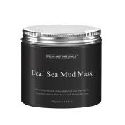 Miss Flora Dead Sea Mud Mask Facial Cleanser(260ml/ 250g) - 100% Natural Facial Dead Sea Mud to Minimise Pores, Acne Treatment,Skin Face Facial Mask