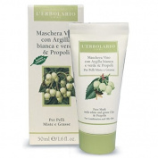 L'ERBOLARIO Face Mask whith White And Green Clay and Propolis For Combination and oily skin 50ml