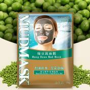 BIOAQUA Green Beans Mud Black Face Mask Skin Care Acne Treatment Removal 5pcs
