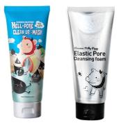 Elizavecca Milkypiggy Hell pore clean up mask + Elastic pore cleansing foam