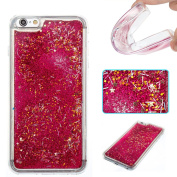 Moonmini iPhone 6 Plus / iPhone 6s Plus Case Cover Glitter Dynamic Liquid Quicksand TPU Inner Bumper Sparkle Shiny Hexagonal Star Pattern Soft TPU Back Case Cover Protective Shell