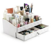 FLYMEI Makeup Organiser with Drawers, Jewellery and Cosmetic Storage Display Boxes