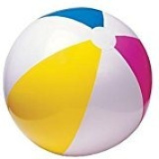 Inflatable 41cm Rainbow Colour Beach Balls - Colours Varied