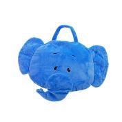 Linzy Plush Take Along Elephant Baby Pillow Blanket, Blue, 100cm